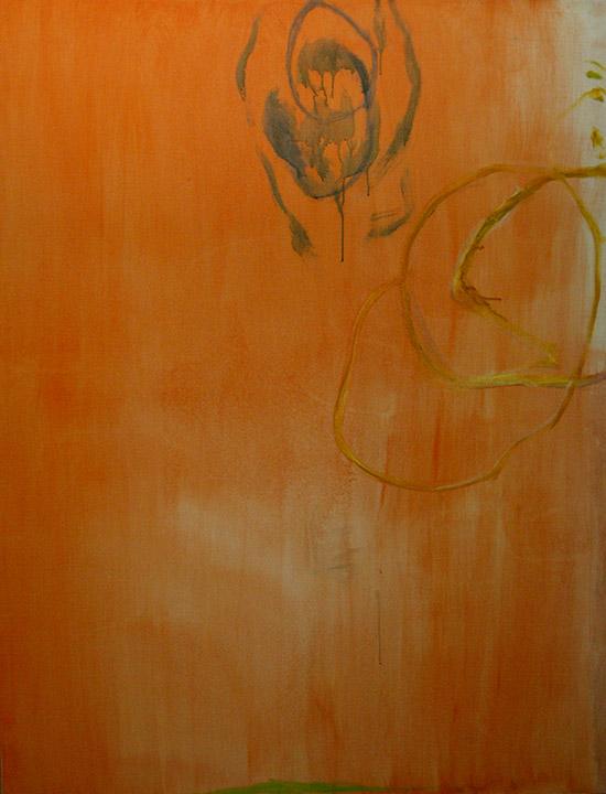 Magnetic Declination/ Declinação Magnética , oil on canvas/ óleo sobre tela, 130 x 100 cm, 2008