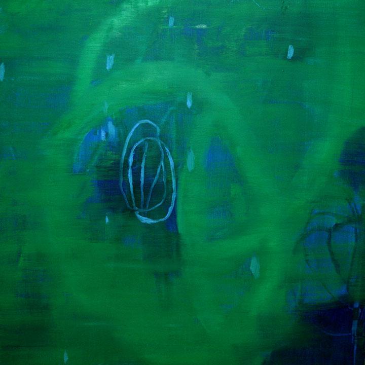 Discordant Melody/ Melodia Discordante, oil on canvas/ óleo sobre tela, 130 x 130 cm, 2007