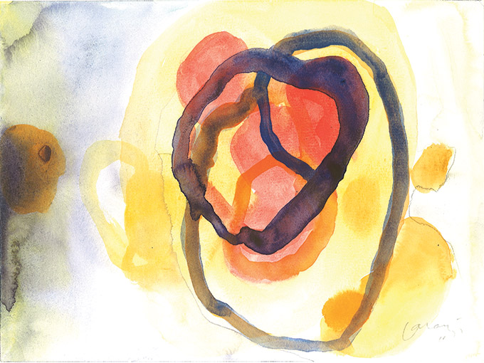 Untitled 17, watercolour on paper/ aguarela sobre papel, 24 x 32 cm, 2011