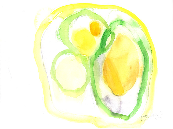 Untitled 6, watercolour on paper/ aguarela sobre papel, 24 x 32 cm, 2011