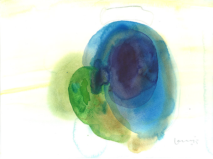 Untitled 15, watercolour on paper/ aguarela sobre papel, 24 x 32 cm, 2011