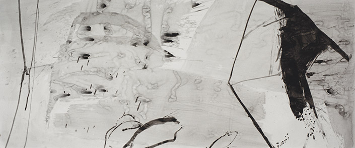Following Successive, tinta da china s/ papel, china ink on paper, 150 x 348 cm, 1996