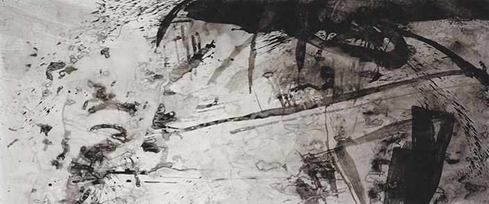 Narrating Identity, tinta da china s/ papel, china ink on paper, 150 x 350 cm, 1996