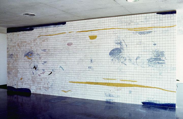 Painel Cerâmico/ Ceramics Panel, Entrada do Edifício de Geociencias da Universidade de Aveiro. Projecto do Arquitecto Eduardo Souto de Moura, 1996