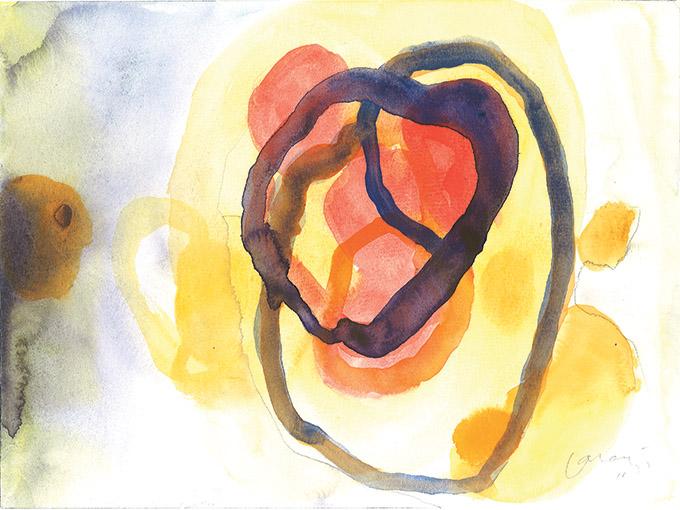 Untitled 17, watercolour on paper/ aguarela sobre papel, 24 x 32 cm, 2011