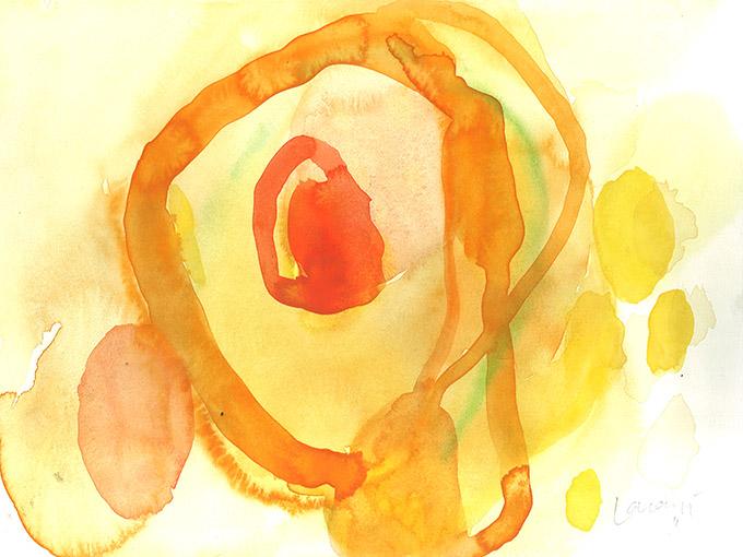 Untitled 1, watercolour on paper/ aguarela sobre papel, 24 x 32 cm, 2011