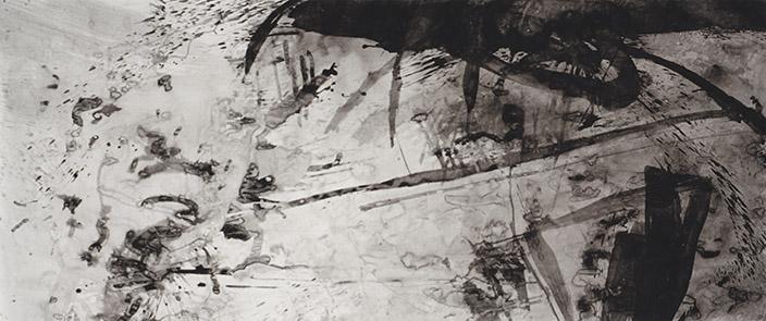 Narrating Identity, tinta da china s/ papel, china ink on paper, 150 x 350 cm, 1996