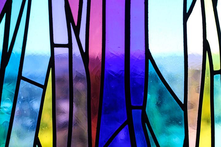 Vitrais/ Stained Glass, Igreja da Sagrada Família, Chaves, Portugal, 2008